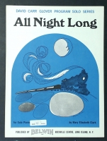 All Night Long David Carr Glover Series Mary Eliz Clark 1968