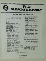 Hunting Song (Songs Without Words) No 3 Mendelssohn 1915