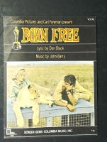 Born Free by Don Black and John Barry 1966