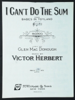 I Can't Do The Sum (Babes In Toyland) Victor Herbert