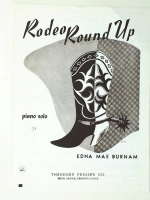 Rodeo Round Up Piano Solo by Edna Mae Burnam 1950