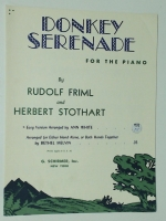 Donkey Serenade For Piano by Rudolf Friml &1945