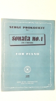 Serge Prokofieff Sonata No 1 In F Minor 1947 Looseleaf