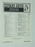 Norwegian Dance Op 35 No 2 by Evard Grieg Compos. For Piano