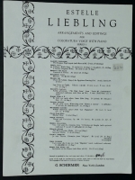 Il Bacio Waltz Song in D. Est. Liebling Series 1937 opera music