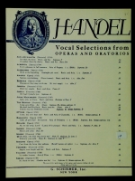 "Oh Sleep Why Doest Thou Leave Me? ""Semele"" Med Voice 1932"