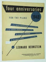 4 Anniversaries For Piano 1948 by Leonard Bernstein 1960