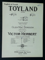 Toyland In D Voice. English & French Victor Herbert 1903