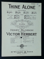 Thine Alone In Eb Voice. Victor Herbert 1929