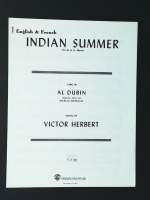 Indian Summer English & French. Al Dubin, Victor Herbert 1951