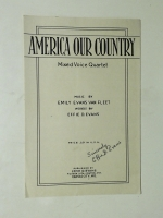 America Our Country Mixed Voice Quartet 1949