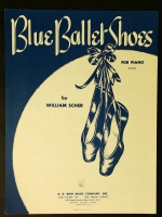 Blue Ballet Shoes For Piano. William Scher 1960