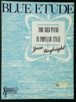 Blue Etude Piano Solo June Weybright 1957