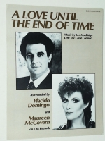 A Love Until The End Of Time Placido Domingo opera sheet music