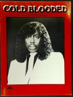 Cold Blooded, Recorded by Rick James Piano Vocal Guitar 1983