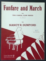 Fanfare And March, 2 Pianos 4 Hands Nancy R Dunford 1957