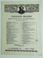 Brahms Songs W/ Piano Accomp. Wiegenlied Cradle Song 1937
