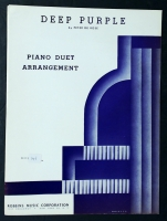 Deep Purple Piano Duet Arrangement by Peter De Rose 1934