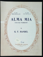 Alma Mia Ariette From Floridante Med Voice D Dated 1941