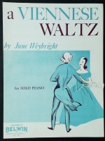 A Viennese Waltz Piano Solo June Weybright 1956