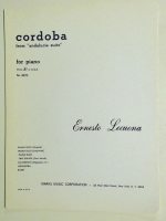 "Cordoba From ""Andalucia Suite"" by Ernesto Lecuona. Marks"
