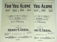 For You Alone Henry Geehl 2 Pieces. No 2 in Eb & No 4 in G 1936
