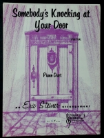 Somebody's Knocking At Your Door PIano Duet. Eric Steiner 1964