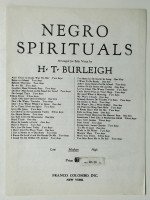 Negro Spirituals Deep River Arr For Solo Medium Voice 1917