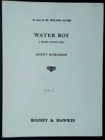 Water Boy A Negro Convict Song Sung By Avery Robinson 1950