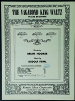 The Vagabond King Waltz In Low Db Voice. Hooker / Friml 1926