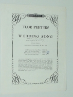 Flor Peeters Wedding Song Medium Voice & Organ / Piano. 1962