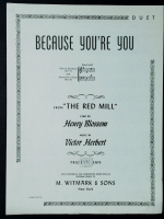 Because You're You Duet In G. Victor Herbert The Red Mill opera