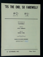 Tis The End So Farewell From Katinka in High G Minor Friml 1915