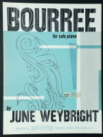 Bourree Piano Solo June Weybright 1955