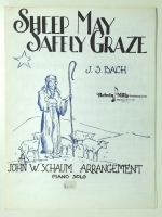 Sheep May Safely Graze by J.S. Bach Arr. by John Schaum. 1946