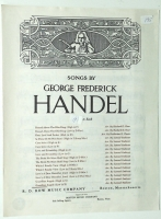 Guardian Angels Low Voice in E by George Frederick Handel. 1931