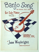 Banjo Folk Song An Italian Folk Song Weybright 1952