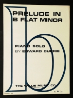 Prelude in B Flat Minor Piano Solo by Edware Currie 1964
