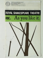 Royal Shakespeare Theatre Program Guide As You Like It