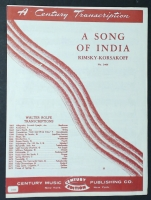 A Song Of India, Rimsky-Kosakov Arr by Calvin Grooms 1927