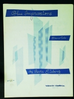 Blue Impressions Piano Solo by Berta Eisberg 1959