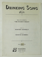 Drinking Song In G From opera sheet music