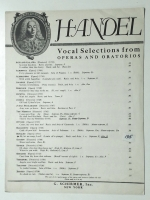 Ah Let Me Weep Lord Alto D. Handel Vocal Selections 1939 opera