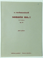Serge Rachmaninoff Sonata No 1 Op 28. Edition Gutheil 56 Pages
