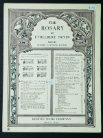 The Rosary Ethelbert Nevin High Soprano Or Tenor in F 1898