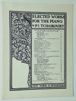 Selected Works For Piano Tchaikovsky Waltz Op 48 1945