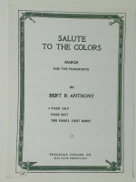 Salute To The Colors Piano Solo 1921