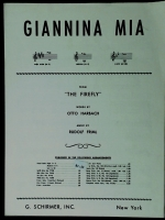 Giannina Mia From The Butterfly High Voice In /w. Friml 1940