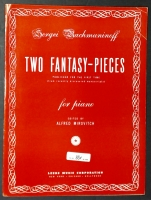 Two Fantasy Pieces For Piano, Sergei Rachmaninoff 1951