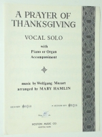A Prayer Of Thanksgiving Medium Key Vocal Solo Piano, Organ 1964